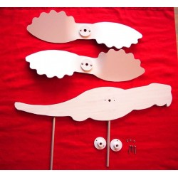 Kit weathervane DIY to paint parrot