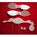 Kit weathervane DIY to paint stork with baby