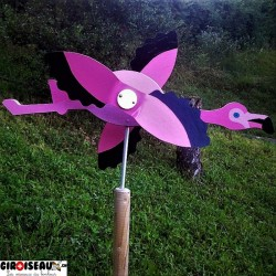 Wheathervane for garden flamingo