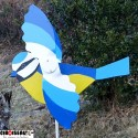 Weathervane for garden blue chickadee